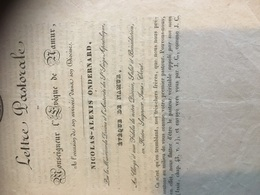 Lettre Pastorale Accueil Diosece De Nicolas Alexis Ondernard 1828 Namur - Diplômes & Bulletins Scolaires