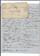JEAN  BASSO ( Secrétaire Garibaldi ) 5 Lettres 1877/78 à Bordone ( + Copie à Basso ) Maddalena Cad Bastia Italie 1878 - Autographes