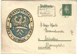ALEMANIA 1931 ENTERO POSTAL OBERSCHLESIEN MAT RADIO TELECOM - Télécom
