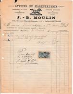 1920 - ATELIER DE MARÉCHALERIE - J.B. MOULIN - Marseille - Documents Historiques