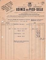 1921 - ISSOUDIN - USINES Du PIED-SELLE - - Documents Historiques