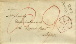 1828 RYE Penny Post Bf N. London - Grossbritannien