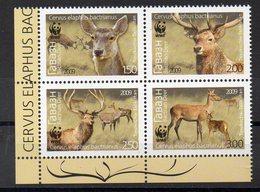 TADJIKISTAN  Timbres Neufs ** De 2009   ( Ref 6153)   Animaux - Cerfs - WWF - Tadjikistan