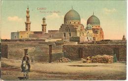 POSTAL    -EL CAIRO -EGYPTO  - TOMBA OF THE KHALIFES - El Cairo