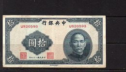 Sun Yat Sen 拾圓 $10 (bb42) - China