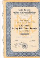 Alb 2Société Marocaine  De Mines Et De Produits Chimiques1936N=14 - Aandelen