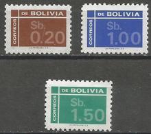 Bolivia - 1976 Numerals MNH **  Sc 594-6 - Bolivien