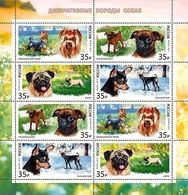 Russia 2019 Sheetlet 8 V MNH Decorative Dog Breeds Dogs Chiens Chien Hund - Dogs