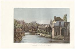 1901 - Phototypie Couleurs - Chartres (Eure-et-Loir) - Vue Prise Du Pont De La Courtille -  FRANCO DE PORT - Vieux Papiers