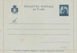 Italia Biglietto Postale Da 5 Lire - Democratica 23/05/46 - 5. 1944-46 Lieutenance & Umberto II