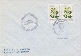 Argentina 1981 Antarctica/Base General San Martin Cover Ca 29 Jun 1981 (41996) - Brieven En Documenten