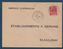 Aube - Cachet Pointillé  BOSSANCOURT - Postmark Collection (Covers)