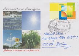 Deutschland 2004: Erneuerbare Energien (Renewable Energy) Mi 2378, Schmuckbrief Mit Passendem Sonderstempel - Protection De L'environnement & Climat
