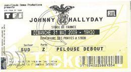 Ticket Entrée Stade De France Johnny Hallyday Tour 66 31/05/2009 - Tickets - Vouchers
