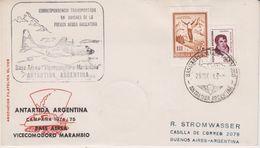 Argentina 1974 Antarctica / Base Aerea Vice Com. Marambio Ca 26 Nov 1974 Cover (41999) - Argentinië
