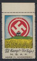 Besetzung II. WK Dänemark Propaganda Oberrand Vignette Til Kamp For Seir S.S.A.P - Besetzungen 1938-45