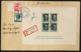 Auto D. Reich Brief Block 7 Seltener SST Rothenfelde Vorsfelde Volkswagen 200,00 - Germany