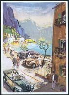 Künstler Ansichtskarte Auto VW Volkswagen Werbung Reklame Sign. V.M. Selten. - Postcards