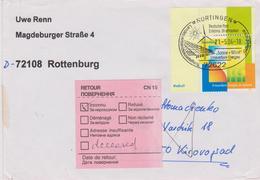 Deutschland 2004: Erneuerbare Energien (Renewable Energy) Mi 2378 Mit Passendem SSt., Retourbrief Deutschland - Ukraine - Protection De L'environnement & Climat