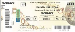 Ticket Entrée Stade De France Johnny Hallyday 17/06/2012 - Tickets - Vouchers