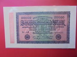 Reichsbanknote 20.000 MARK 1923 - 20000 Mark