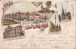 ALLEMAGNE 1898 CARTE POSTALE GRUSS AUS OLDENBURG - Oldenburg