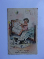 7-2-------germaine Bouret-----enfant-chien--ces Bas De Soie Quelle Camelotte---n°104 -----voir Recto Verso- - Bouret, Germaine