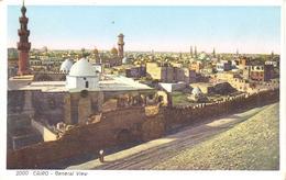 POSTAL    -EL CAIRO -EGYPTO  - GENERAL VIEW - El Cairo