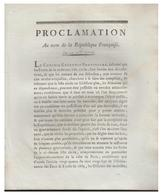 19 Nov 1792--Proclamation Au Nom De La République Francaise--Protection Des Forêts Constituant La Liste Civile--3 Pages - Décrets & Lois