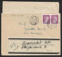 1943 - DR - BRIEF KINDERLANDVERSCHICKUNG Nach PODIEBRAD PODEBRADY (BÖHMEN UND MÄHREN) -MIT INHALT - KLV - Allemagne