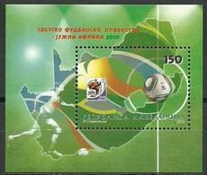Macedonia 2010 Mi Bl 22 MNH ( ZE2 MCDbl22davWC09 ) - Coupe Du Monde