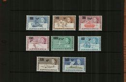 BRITISH ANTARTIC TERRITORY - QE11 - 1971 - DECIMAL O/PRINTS - 8 Stamps - MNH - British Antarctic Territory  (BAT)