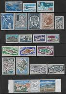 TAAF - ANNEES COMPLETES 1969 à 1971 (SAUF N°39) * MLH AVEC POSTE AERIENNE - COTE = 838 EUROS - - Französische Süd- Und Antarktisgebiete (TAAF)