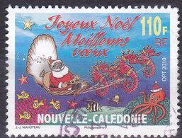 Nouvelle Calédonie Père Noel Dans Une Coquille Tirée Par Des Hippocampes  N°1118  Oblitérés - Neukaledonien