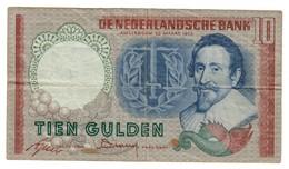 Netherlands 10 Gulden 1953 - [2] 1815-… : Royaume Des Pays-Bas