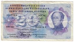 Switzerland 20 Francs 01/03/1973 - Suisse