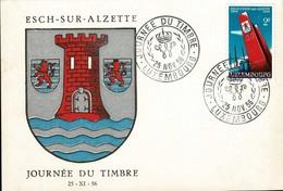 Journée Du Timbre Esch-sur-Alzette 25.11.1956 Cachet Spécial: Michel: 551 - Enteros Postales