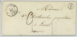 Cachet Type 15 St-Mathurin (Maine-et-Loire) + Boîte Rurale A La Bohalle / LàC 1850 Pour Laval . - Poststempel (Briefe)