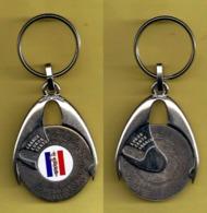 Porte-clé Convertisseur Francs/Euros - SERVICE DE SANTE DES ARMEES_D108 - Militaria