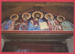 """CPM*34-LE BOUSQUET D'ORB- Monastère Orthodoxe -ST-NICOLAS De LA DALMERIE-""""Déisis"""" *SUP *2 SCANS - France"""