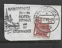 FICHTEL-GEBRIGES UND DES STEINWALDES MARKTREDWITZ 2 - 859 - 11.11.65 Postmark - [7] Federal Republic