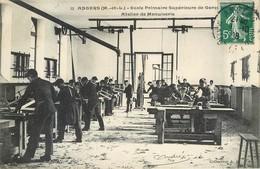 Lot 3 CPA 49 Maine Et Loire Angers Ecole Primaire Supérieure De Garçons Atelier Ajustage Menuiserie Salle Des Machines - Angers