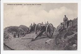 CPA MILITARIA SUISSE Artillerie De Forteresse La Tourche Bat 8 Mobile ( Tampon Fortifications De St Maurice) - Ausrüstung