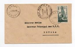 !!! PRIX FIXE : CAMEROUN, CACHET MAKAK DU 9/11/1944 SUR LETTRE POUR DOUALA AVEC CENSURE - Cameroun (1915-1959)