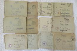12 Feldpost-Briefe Meistens Mit Inhalt,gefallen Für Grossdeutschland, Militär,Korrespondenz,1944 - Dokumente