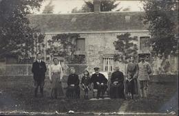 CPA Carte Photo Famille Photo Lechartier à Courtomer 61 Orne 1918 - Courtomer