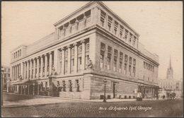 St Andrew's Hall, Glasgow, 1917 - Philco Postcard - Lanarkshire / Glasgow