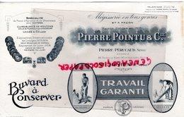 87- ST SAINT JUNIEN- GANTERIE-RARE BUVARD PIERRE POINTU- PIERRE PERUCAUD NEVEU-MEGISSERIE MEGISSIER PALISSONNEUR- - Papel Secante