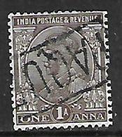 India, GVR, One Anna, Used PAQU(EBOT) Cancellation - India (...-1947)