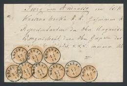 1864 9 X 15kr Ajánlott Levél Előoldalán / On Front Side Of A Registered Cover; 'ROSENAU' - Wien Certificate: Bach-Eichel - Timbres